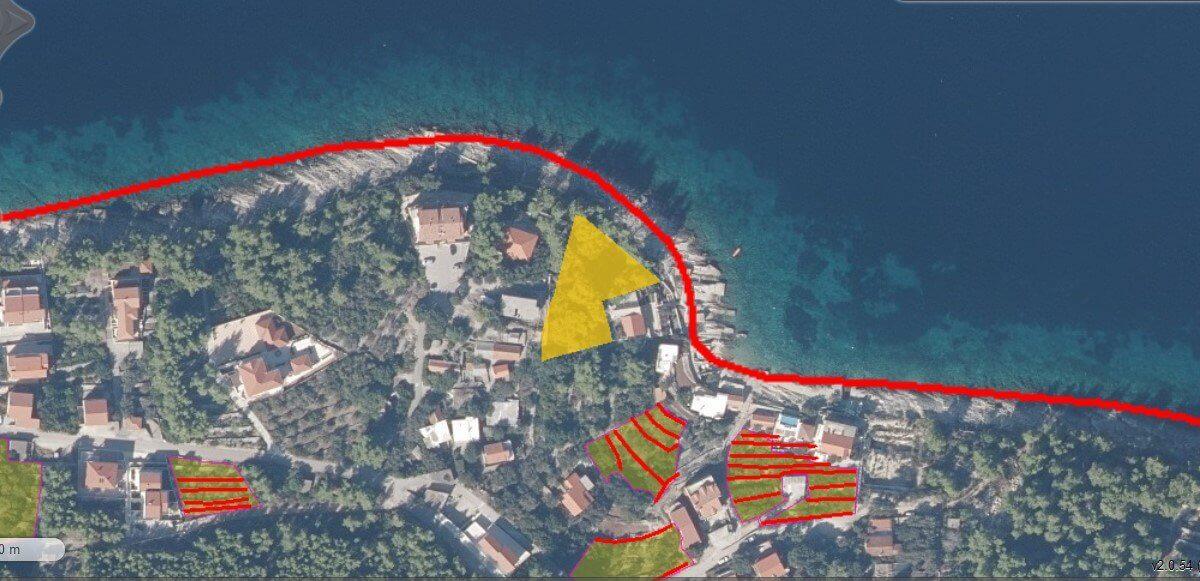 Građevinsko zemljište, Prigradica, Korčula, 1.643 m2