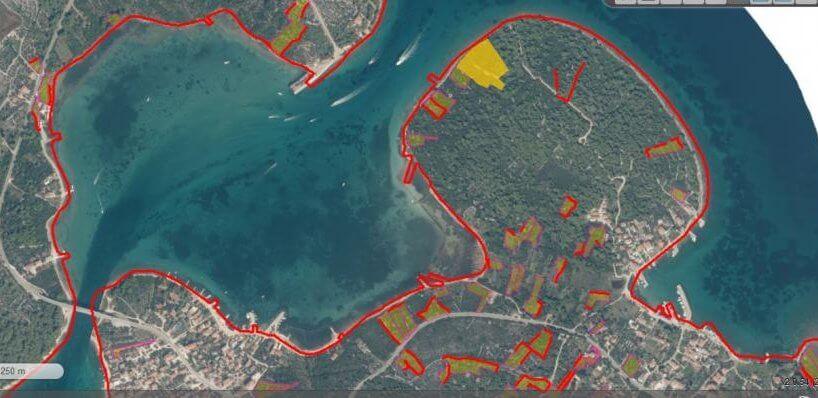 Poljoprivredno zemljište za kamp, 9.042 m2, otok Pašman, Ždrelac